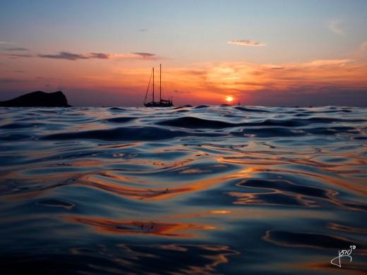 and the seas around the island..