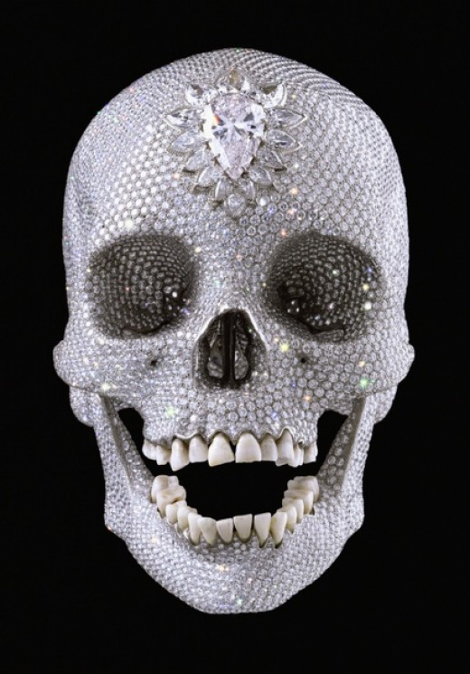 For the Love of God by Damien Hirst, his famous diamond encrusted skull