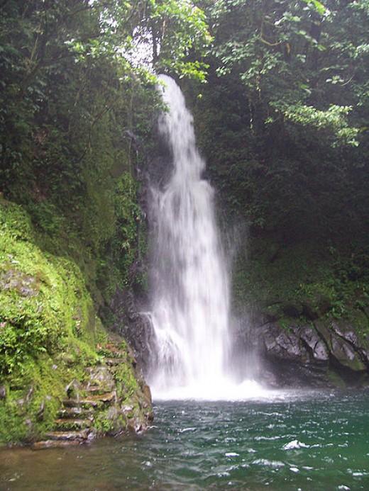 Malabsay Falls at Isarog mountain, Carolina, Naga City