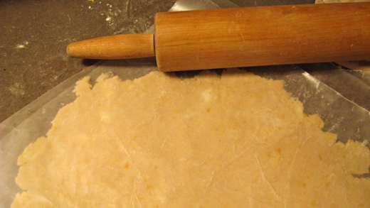 Roll the lemon zest dough into a thick slab, and don't worry about uneven edges / Photo by E. A. Wright