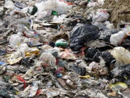 Most plastic even now, winds up in landfills and in places like India, people live surrounded in plastic garbage.