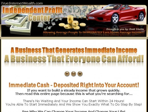 Independent Profit Center www.TrueInternetWealth.com