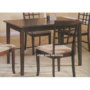 Pacific Cappuccino Finish Dining Table in Wood Frame Furniture