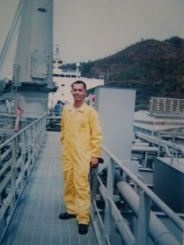 Cook Ireno Alcala, the ousted seafarer who was about to go onboard the same ship (Opal Queen) when the manager of Tsakos' office in Manila decided to transfer him to another fleet in Wallem Maritime Servces, Inc.