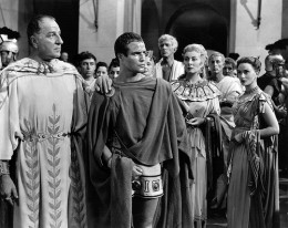 In Julius Caesar, with Marlon Brando and Greer Garson