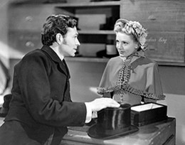 With James Mason in Hatters Castle in 1942