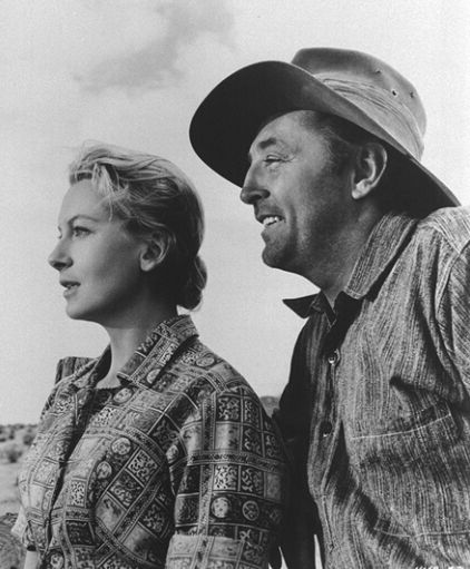 With Robert Mitchum in The Sundowners, 1960