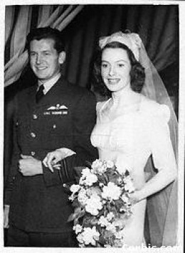 Wedding to Anthony Bartley, 1945