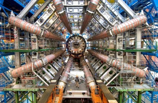 The CERN LHC is the larges machine ever made by humanity and its purpose is to determine what kind of stuff existed within a time of less than one second of the big bang.