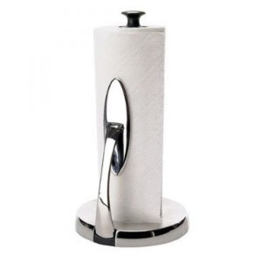 Oxo 1066736 Good Grips SimplyTear Brushed Stainless-Steel Standing Paper-Towel Holder