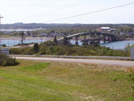The FDR International Bridge from Lubec Maine to New Brunswick Canada