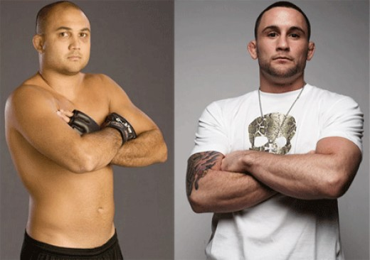 Long-time Lightweight Champion and #1 Challenger BJ Penn (left) will be squaring off against current champion Frankie Edgar live in Boston August 28th