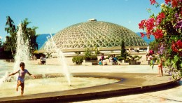 Outdoor view of Bloedel Conservatory in Queen Elizabeth Park
