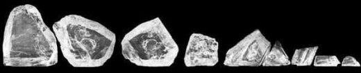 Nine large cut pieces of the Cullinan Diamond.