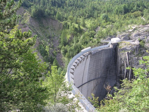 The Vajont Dam.