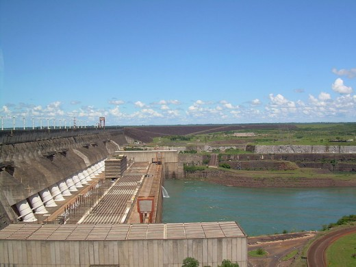 The Itaipu Dam.