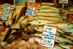 Throwing Fish Images at Pike Place Market in Seattle, Washington