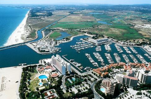 Birds eye view of Vilamoura