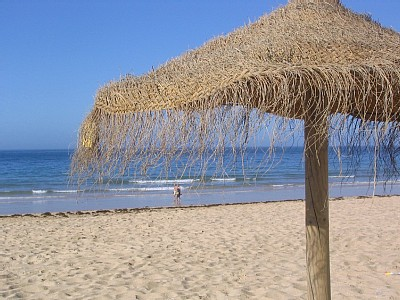 A sandy beach at Vilamoura