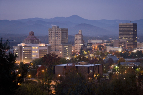 Downtown Asheville's beautiful skyline!
