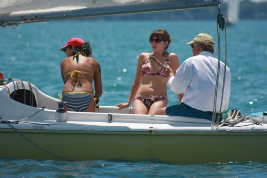 Sailing beats a tanning salon! Crescent Sloop Manon, GPSC Regatta 7-10-10 deedsphoto