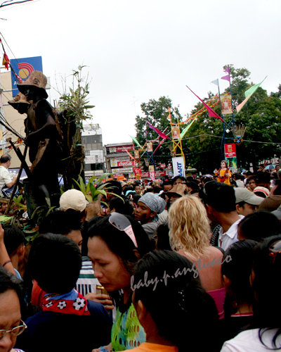 Part of the crowd during the Ati-Atihan festival