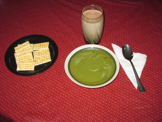 Cream of Spinach Soup for Lunch