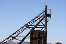 More mining equipment at an abandoned mine along Constellation Road.