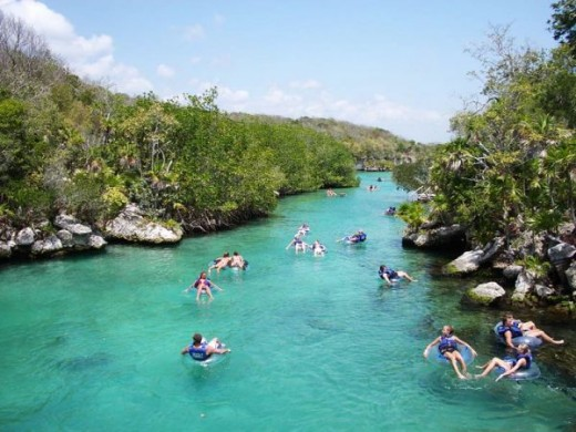 Enjoy Xel-Ha's natural lazy river