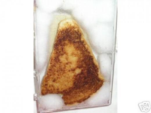 The Virgin Mary as a cheese sandwich.