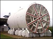 Channel tunnel boring machine.