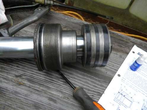 Piston rod assembly ready for installation