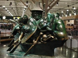 Sculpture in the Vancouver International Airport