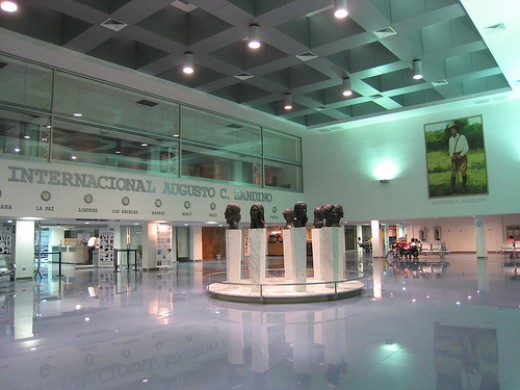Inside Managua's International Airport