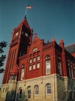 Montgomery County Courthouse, Red Oak, Iowa, c. 1891, Romanesque.