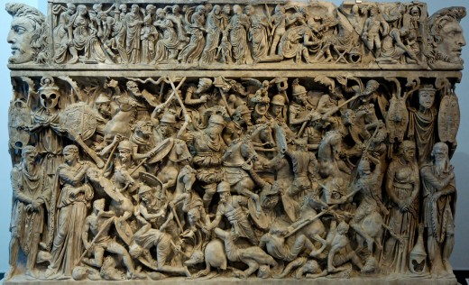 Of a later period, that of the Romans.  Nonetheless, a sculpture which conveys the turmoil of ancient times