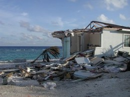 A house destroyed during Hurricane Ivan.