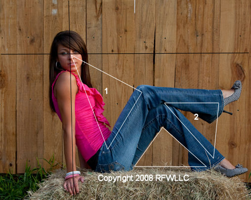 Image copyright 2009 RFWLLC Notice how powerfully triangles #1 and #2 keep your attention focused on the model's face.