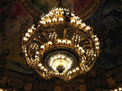 The repaired chandelier - photo from tripadvisor.com