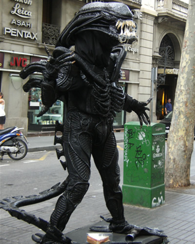 People are OK, but Alien prefers cheese and ham sandwiches these days.