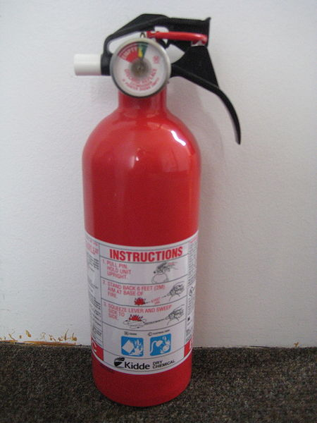 A Dry Powder Fire Extinguisher.