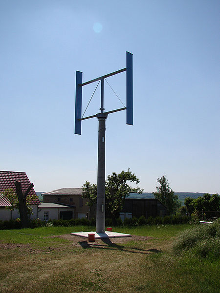 5 kilowatt vertical axis wind turbine.