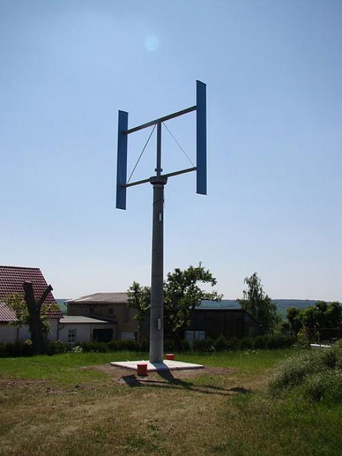 5 kilowatt vertical axis wind turbine.