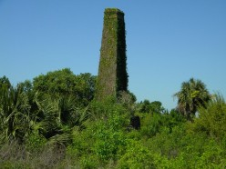The old steam powered rice mill chimney