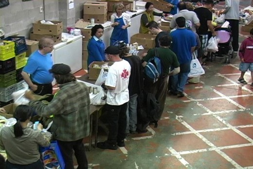 Here is another benchmark on the level of poverty; the food bank line up, which is common in every major city on the continent. A sad statistic shows that people who are working, also have to rely on food banks to eat.