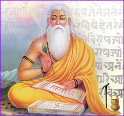 Guru Purnima is also known as Vyas Purnima as this day is the day on which sage Veda Vyas classified the Vedas, who wrote the eighteen Puranas and the Mahabharat was born. Guru Poornima Festival day this year falls on Saturday 12th July, 2014.
