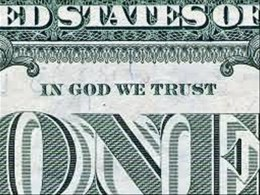 God is mentioned by name on the U.S. $1 bill.