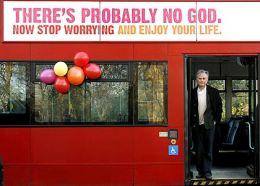 Atheism billboard ad on a public bus.