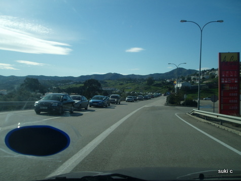 The queue for the Sierra Nevada