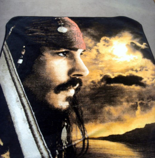 "Fleece blanket from ""Pirates of the Caribbean"""